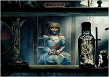 Annabelle Horror Movie Scary Doll Art print Silk poster Home Wall Decor