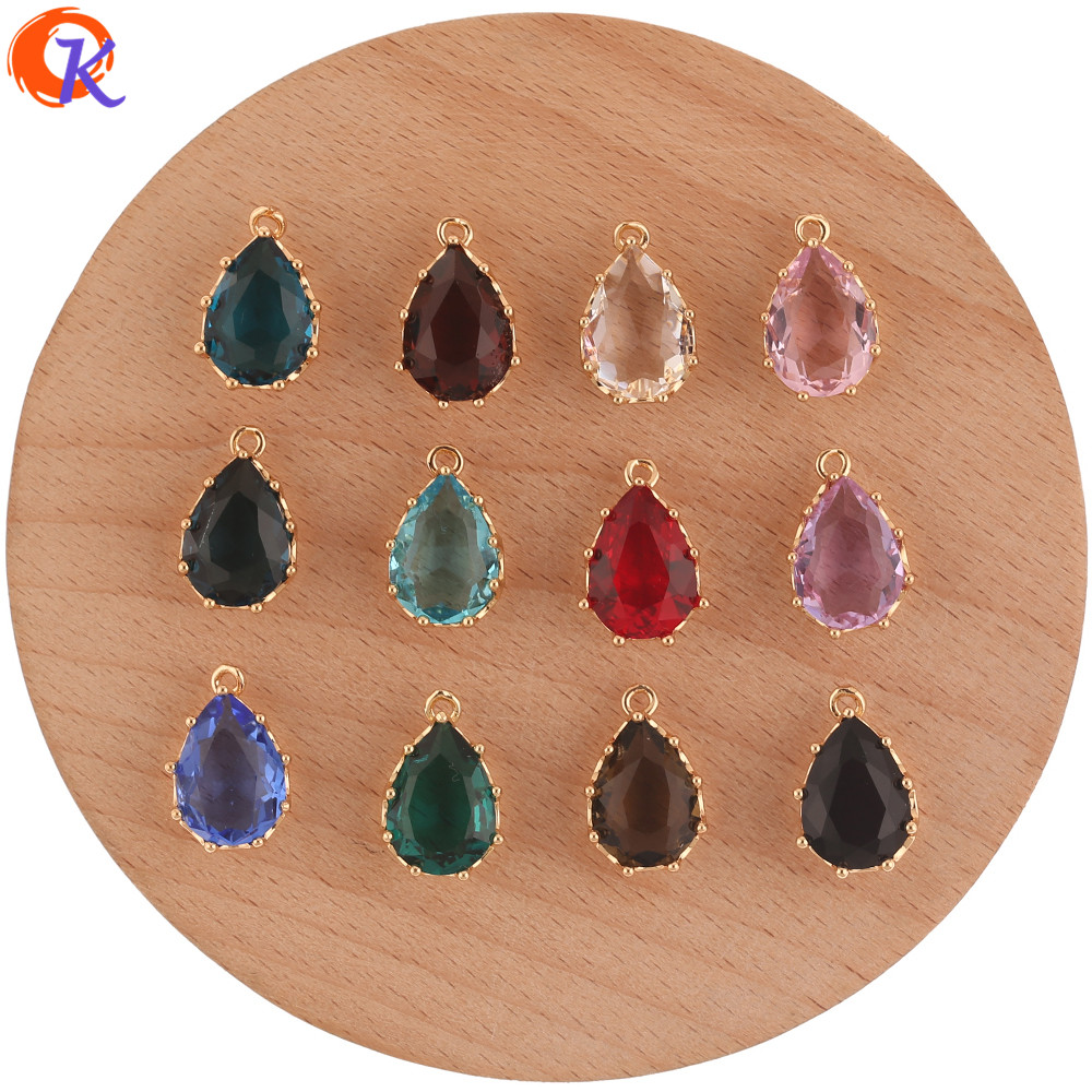 Cordial Design 50Pcs 11*17MM Jewelry Accessories/Earring Findings/Crystal Pendant/Drop Shape/Hand Made/DIY Jewelry Making/Charms