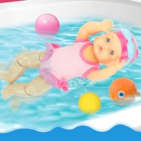 New Waterproof Electric Swimming Doll Kid Girls Toy New Bath Swimming Pool Waterproof Dolls Girls Toy Birthday Gifts