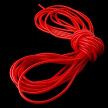 10M Sporting Natural Latex Slingshot Rubber Tube Catapult Sling Shot Rubber Band Strong Elastic Bungee Tube 2050 2mmx5mm tanie tanio 10M Natural Latex rubber tube Hunting Bow Arrow Set