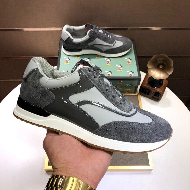 tênis de corrida sapatos de couro de