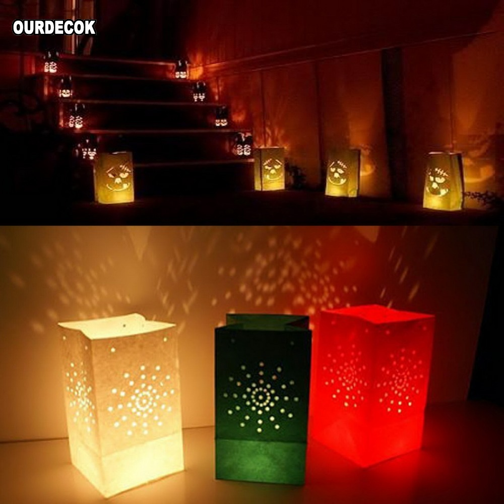 Image 3 - 50 Pcs 25cm White Paper Lantern Candle Bag For LED light Lampion Heart For Romantic Birthday Party Wedding Event BBQ Decoration-in Party DIY Decorations from Home & Garden