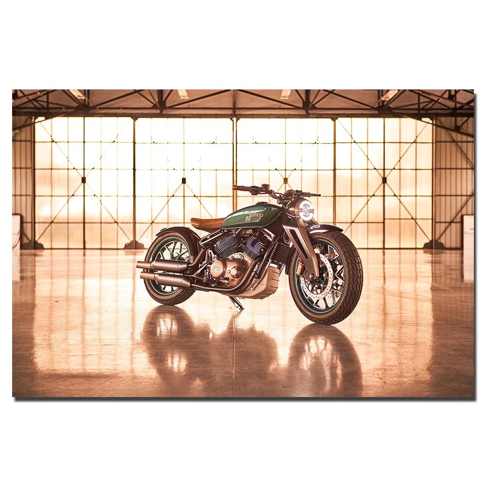 Framed Picture Print Triumph Bonneville T120-30x20 Inch Canvas