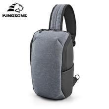 Kingsons sac à dos à bandoulière imperméable pour hommes, petit sac de poitrine adapté pour ordinateur portable Ipad 11 pouces, BookFashion, sac à épaule de poitrine