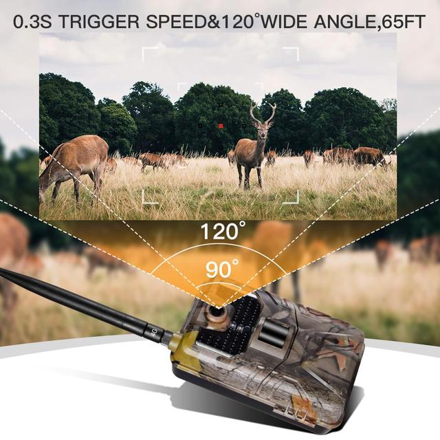APP Trail Camera Cloud Service 4G Cellular Mobile Wildlife Hunting Cameras 20MP Wireless HC900LTE 1080P Surveillance 5