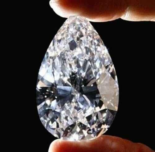Branco Sapphire Zircon 51.58Ct 18x25 milímetros VVS Solta Gemstone Forma de Pêra Facetada Cut AAAAA