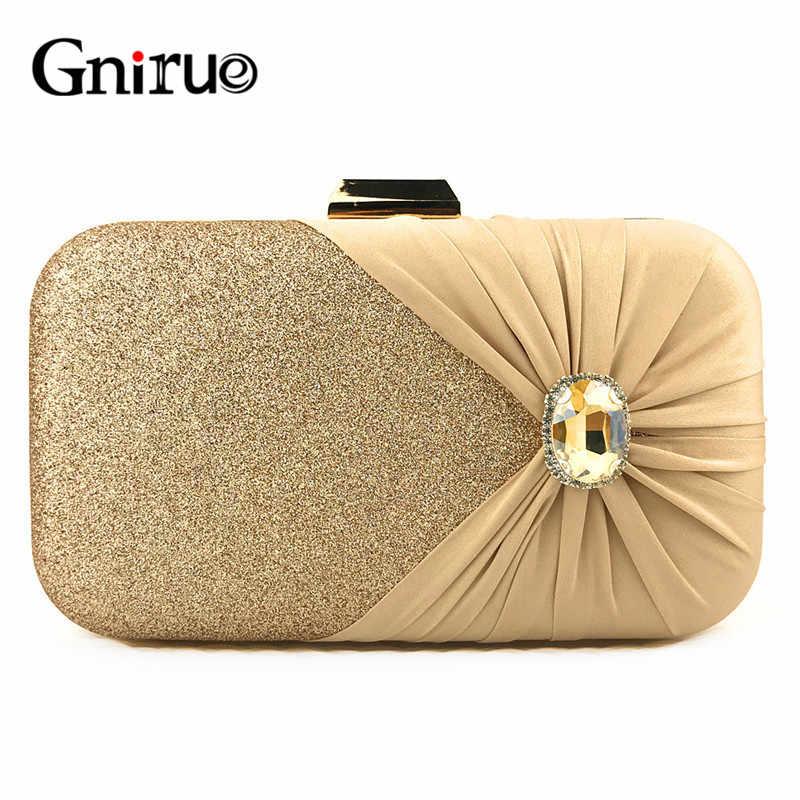 2020 nova moda de ouro noite saco embreagem carteira feminina clássico casamento brilhante bolsa nupcial saco embreagem corrente bolsa ombro
