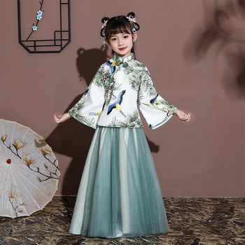 Children'S Hanfu Girls' Spring And Summer Costumes Super Fairy Gown Dress Chinese Style Little Girl Baby Tang Suit Han Costume