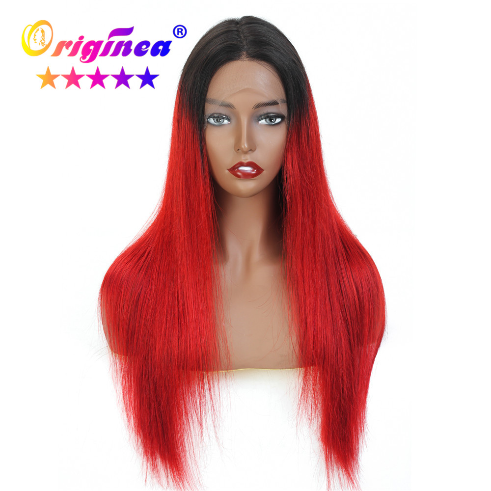 T Part Lace Front Human Hair Wigs For Woman Omber Wigs Ear To Ear Lace Wig With Baby Hair Brazilian Remy Straight Hair 6 Colors