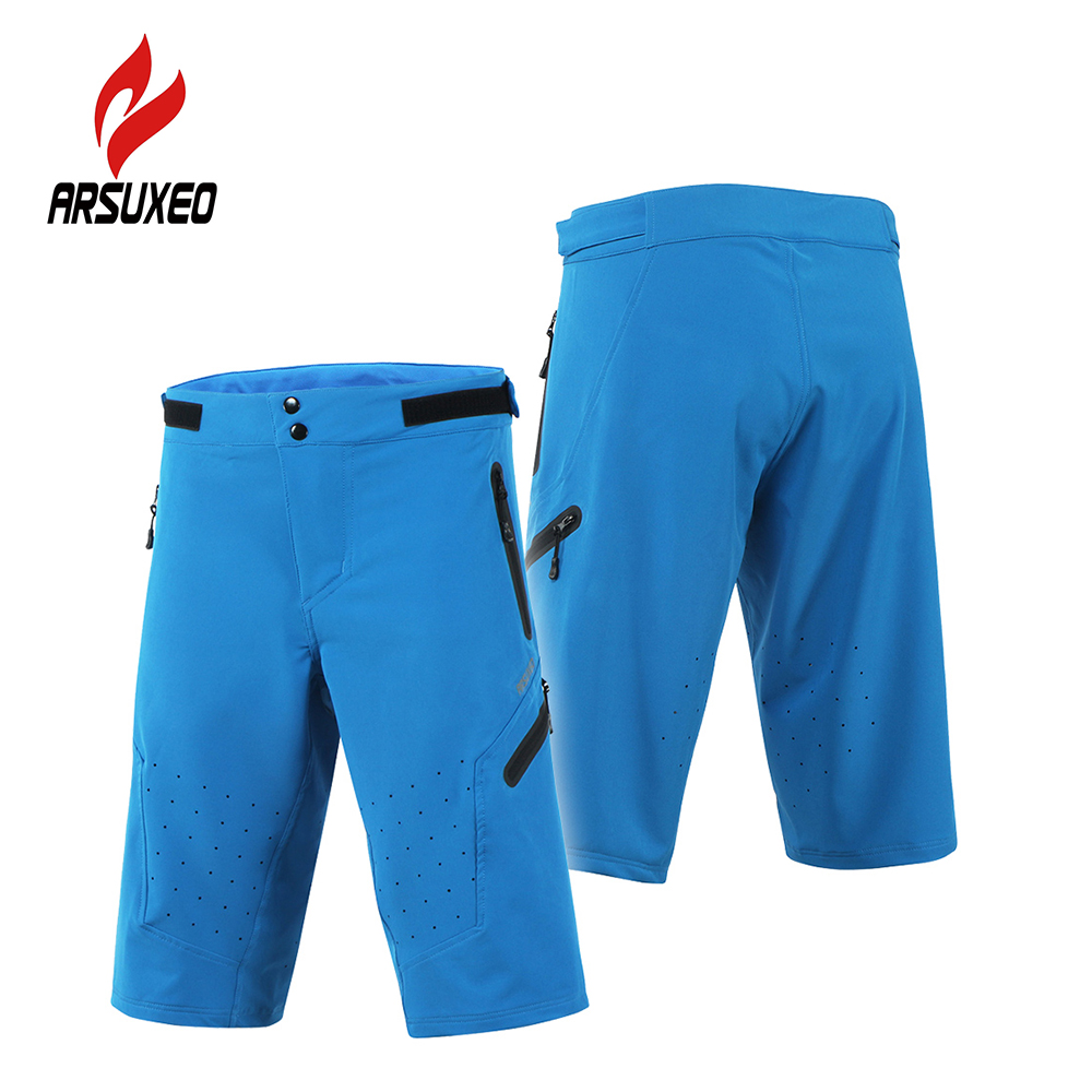 Arsuxeo Outdoor Sport Cycling Shorts Men's Climbing Running Shorts Quick Dry Spandex Marathon Training Fitness Trunks S-XL