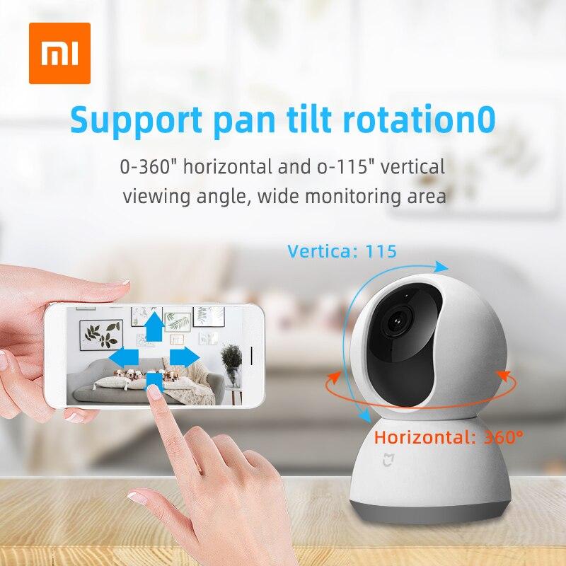 Xiao mi jia mi 1080P IP умная камера 360 Угол Беспроводной Wi-Fi ночное видение видеокамера веб-камера для защиты дома безопасности