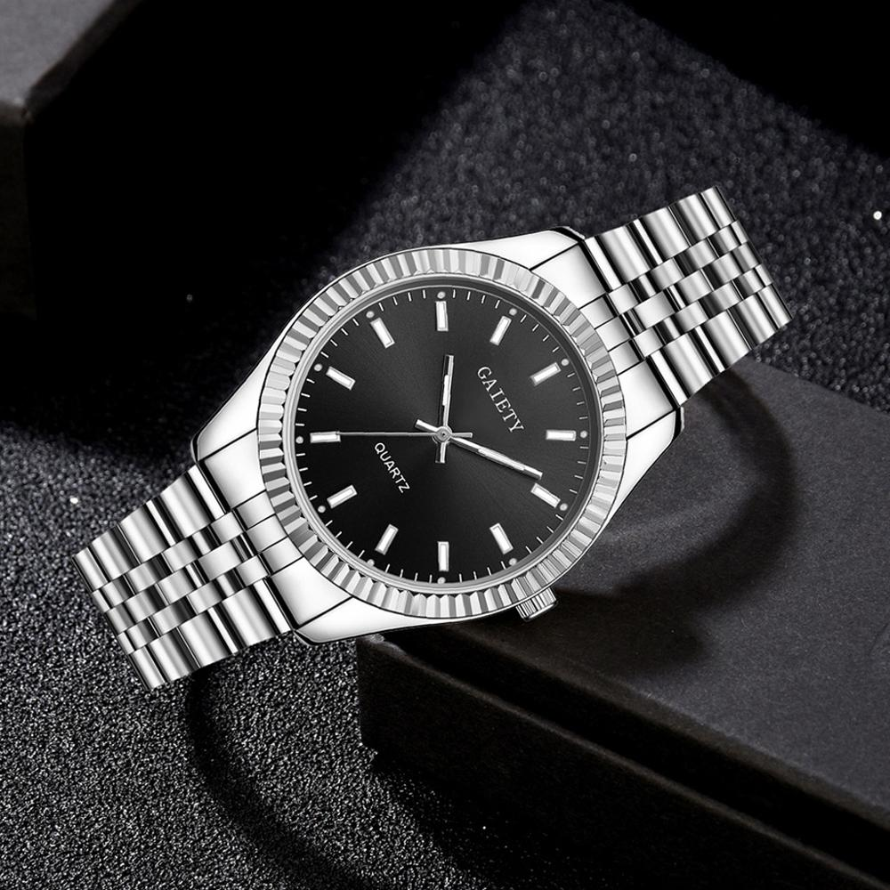 Men Fashion Silver Watch Men Full Steel Waterproof Sports Quartz Clock Mens Watches Top Brand Luxury Rolexable Male Wristwatches