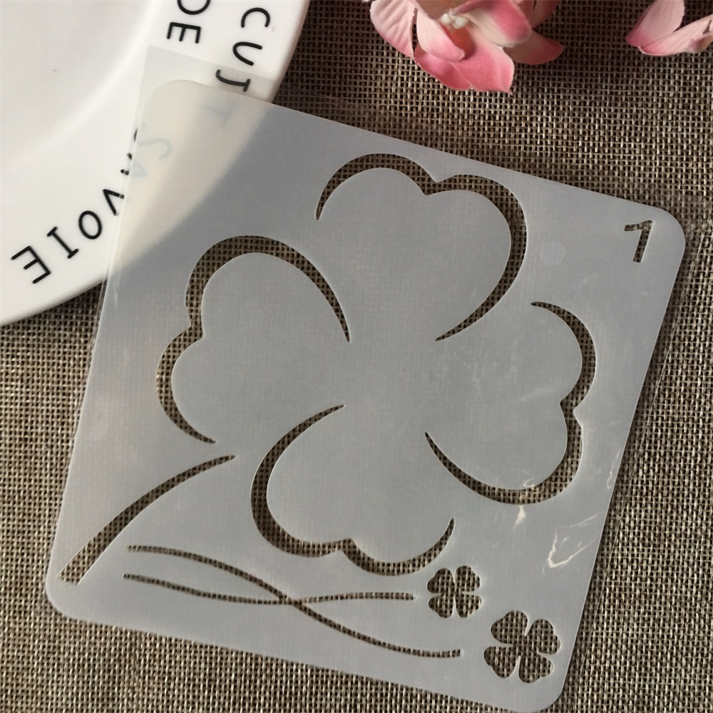 13cm Clover Grass DIY Layering Stencils Wall Painting Scrapbook Coloring Embossing Album Decorative Card Template