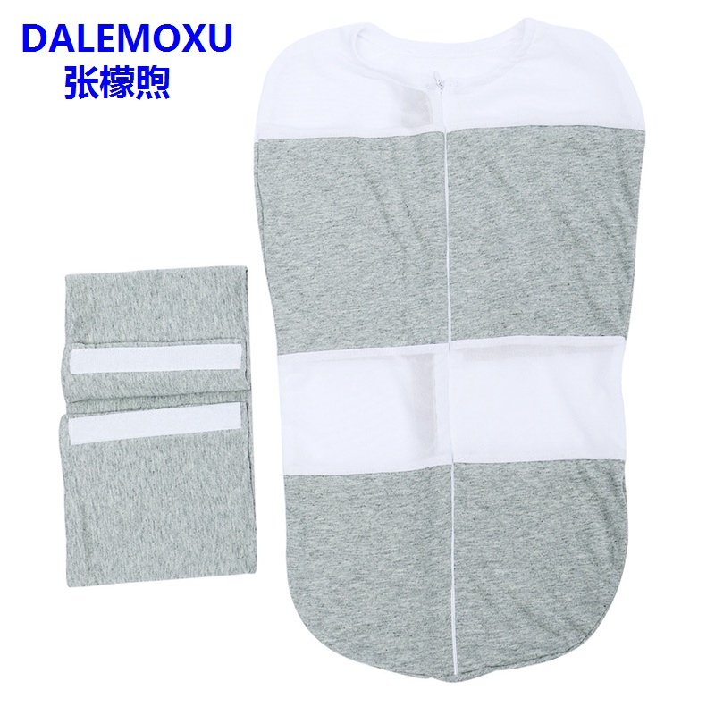 DALEMOXU 2PC Cocoon Baby Sleeping Bag Envelope For Newborn 0-9 Month Cotton Swaddling Bag Spring Summer Baby Bedding Accessories