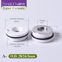 Startnow Laser Ceramic Ring Parts For Fiber Cutting Machine Laser Welding Head Nozzle Holder 28mm 32 OEM HSG WXS Bodor HANS DNE