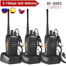 3PCS Baofeng BF 888S Two Way Radio BF 888S 6km Walkie Talkie 5W Portable CB Ham Radio Handheld HF Transceiver Interphone bf888S