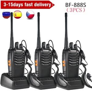 Image 1 - 3PCS Baofeng BF 888S Two Way Radio BF 888S 6km Walkie Talkie 5W Portable CB Ham Radio Handheld HF Transceiver Interphone bf888S