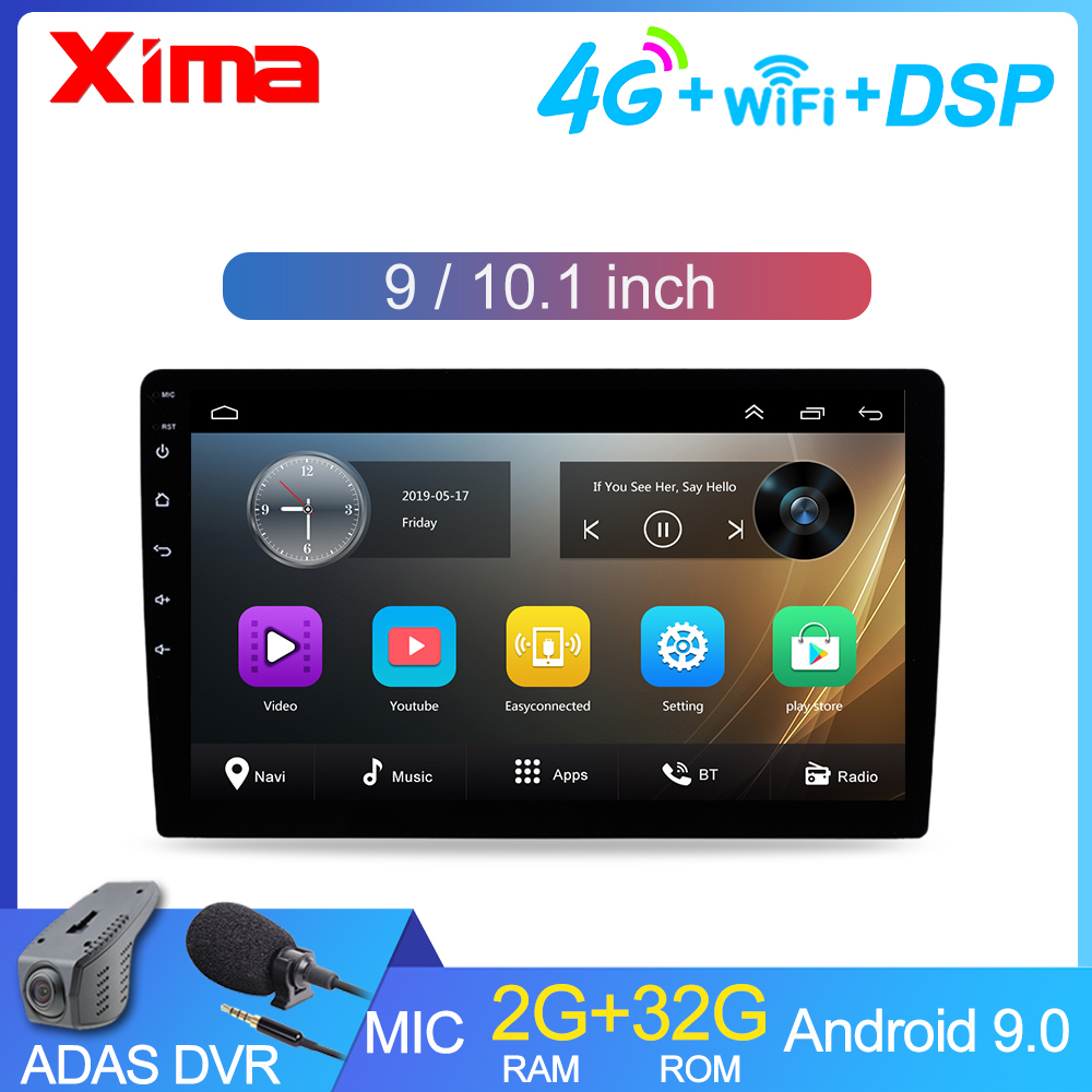 Universal 9/10.1 Inch Android 9.0 Car Multimedia Auto Radio 2Din Autoradio Gps Central Fm Car Stereo for Toyota Suzuki NISSA