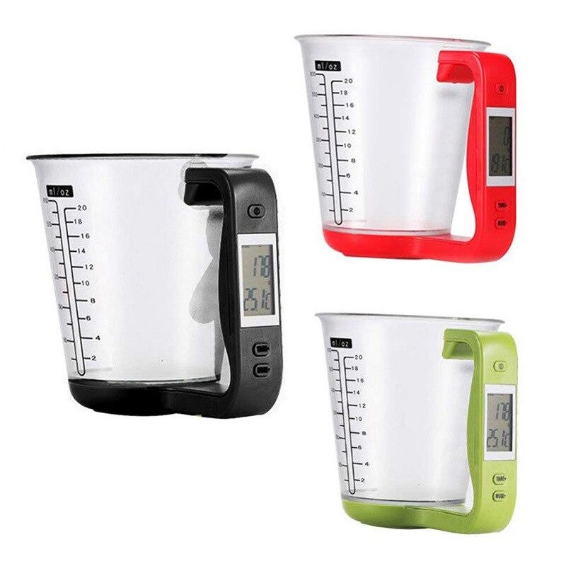 Digitaler Messbecher Küchenwaage Maßbecher Messgewicht mit LCD Display