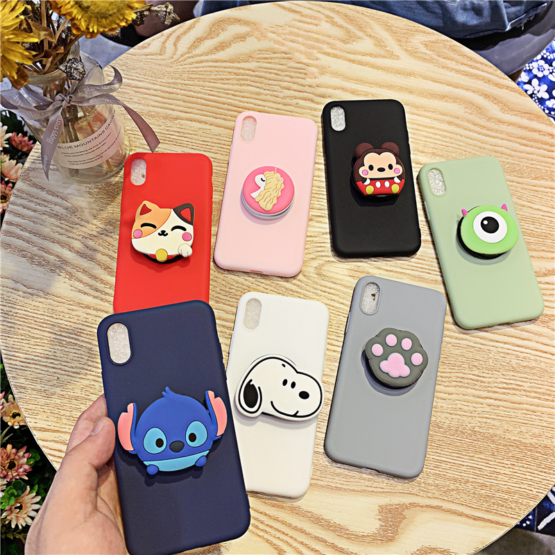 Matte <font><b>3D</b></font> Cute Holder Silicone Cover for <font><b>Oneplus</b></font> 7 Pro One Plus 6t <font><b>6</b></font> 5t 5 <font><b>Case</b></font> Soft TPU Back Covers Phone Bags Protective image