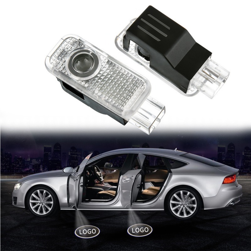 2Pcs Car LED Door Logo Projector Welcome Light Ghost Shadow Laser Lamp For Audi R8 2007-2017 TT 2008-2017 Q7 2006-2017 Q5 Q3