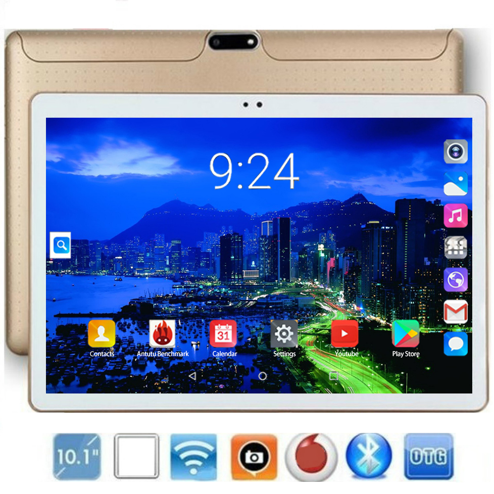 YAHU Tablet PC 10 Inch Android 8.0 128GB ROM 6GB RAM Ten Core Phone Call Dual SIM Tablets Gps Fm Bluetooth 10.1 Kids Tablet