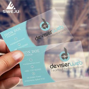 Przejrzyste wizytówki drukowanie na zamówienie plastikowe pcv VIP karty darmowy projekt 200 sztuk 500 sztuk tanie i dobre opinie 85mm*54mm business cards 200pcs 500pcs pvc business card custom print