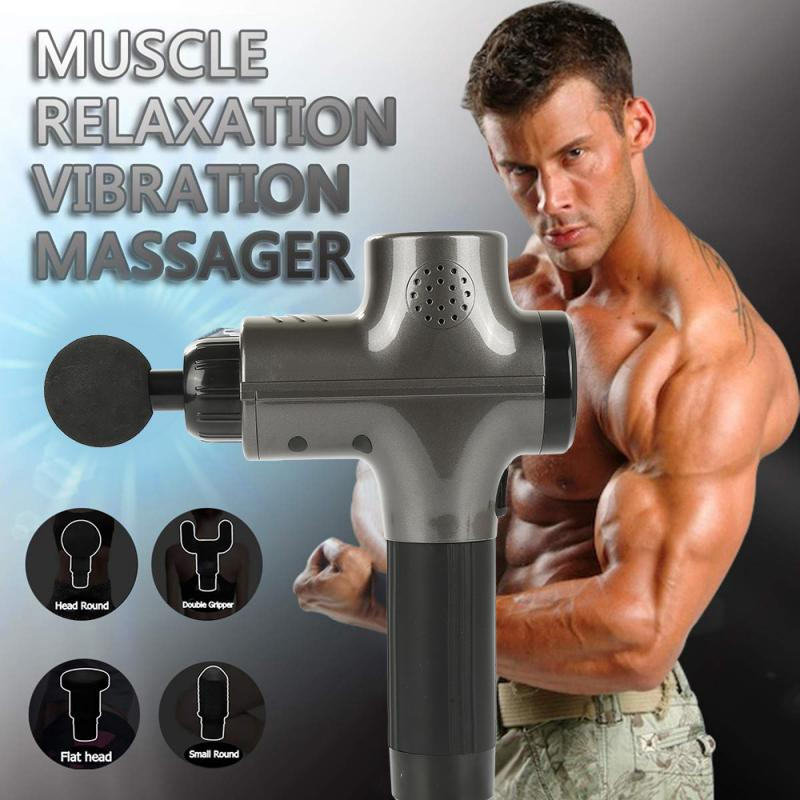 Massage Gun Portable Muscle Vibrating Body Hypervolt Massager Relaxing Pain Relief Shaping Slimming Massage Equitment TSLM1