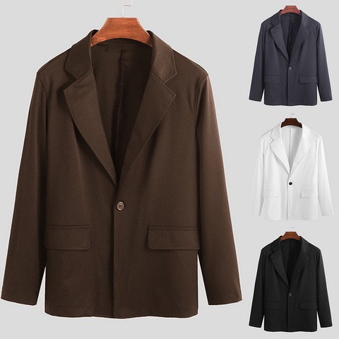 HEFLASHOR Luxury Men Blazers Hombre Casual Vintage Business Casual Blazer 2019 Autumn Jacket Smart Coat Suit Formal Blazers Pakistan