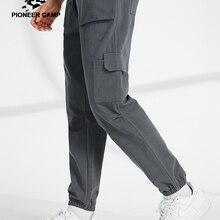 Pioneer Camp Casual Pants Men Loose Streetwear 100%cotton Black Gray Ca