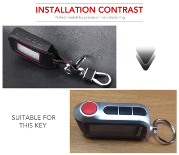 New A93 Leather Case For Starline A93 A63 Car alarm Remote Controller LCD Keychain Cover,Car-styling