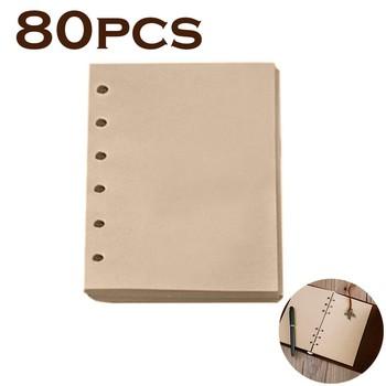 80 arkuszy wkład do notebooka wewnętrzny papier A6 strony Vintage notatnik Retro papier uzupełniający papier pakowy Party Gift wypełniacze Sprial tanie i dobre opinie CN (pochodzenie) Papers