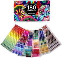 Акварельные карандаши для рисования, художественные цветные карандаши для набросков, затенения и окрашивания, 180 цветов