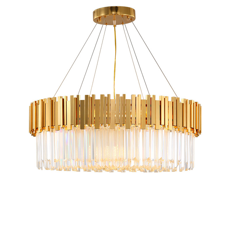 Modern Luxury Crystals Chandelier Lighting Gold Chandeliers Lustre LED Foyer Lights Dinning Room Lamps Indoor Light Fixtures