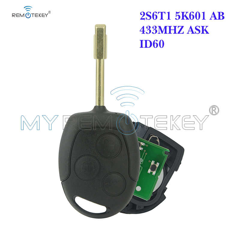 Remtekey Afstandsbediening Sleutel Voor Ford Focus Transit Connect 2001 2002 2003 2004 2005 ID60 433Mhz FO21 3 Knop 2S6T15K601AB