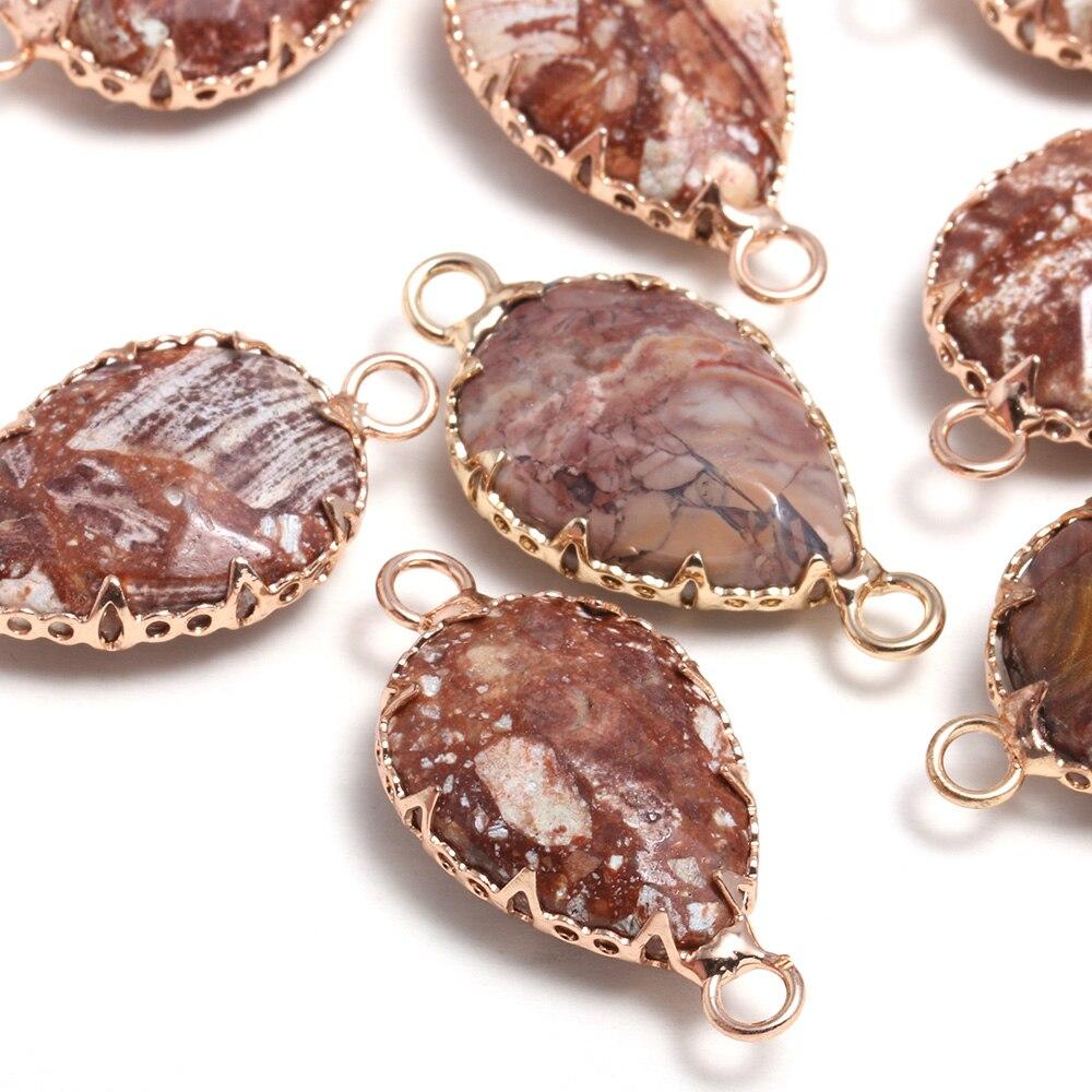 Купить натуральный камень в форме капли воды кружева агаты кулон соединитель