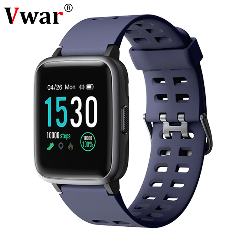 2019 Vwar Smart watch F9S with Heart rate monitor Men Sport Smartwatch Message Reminder Fitness Tracker