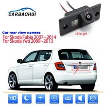 Car camera For Skoda Fabia 2007-2014 For Skoda Yeti 2009-2013 Car Rear View Reverse Backup Camera CCD HD Night Vision