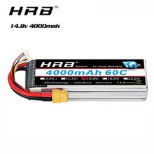 HRB 4S يبو بطارية 14.8V 4000mAh 60C XT60 موصل ل RC سيارة Truggy شاحنة Multirotors Hexacopter Octacopters طائرة قارب