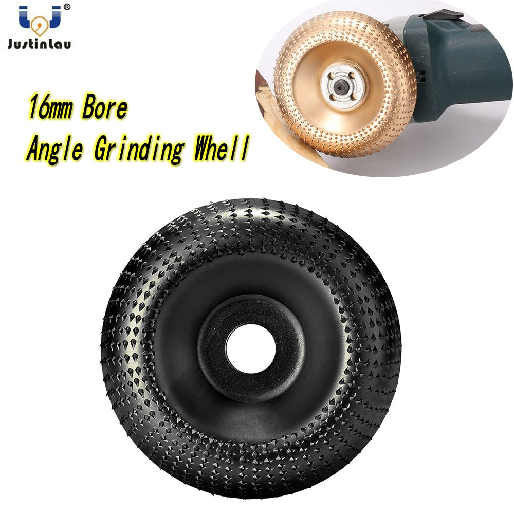 JUSTINLAU Professional Diameter Wood Angle Grinder Wheel 100mm Abrasive Disc Sanding Carving Tool For Angle Grinder 16mm Bore