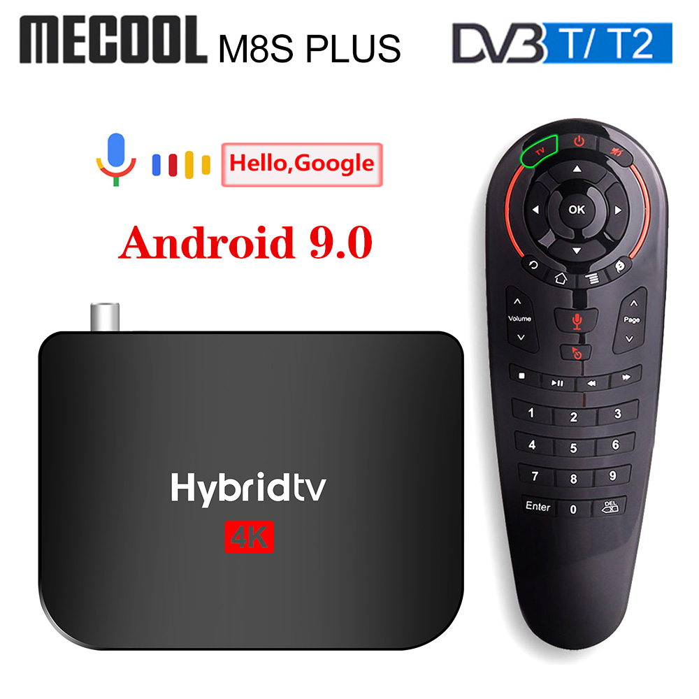 2020 Mecool M8S PLUS Android 9 DVB-T2 Hybridtv TV Box Amlogic S905X2 2GB 16GB Support 4K M8S PLUS DVB T2 Terrestrial Combo Box