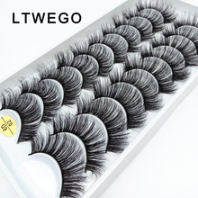 Eyelash-Extension Makeup-Tool Book Faux-Mink Long-Lash False Cilios Natural LTWEGO Volume-Fluffy