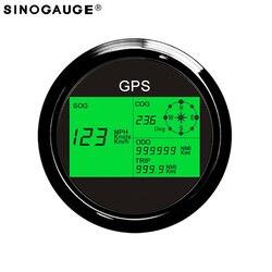 Darmowa dostawa! Czarny prędkościomierz GPS cyfrowy 0 ~ 999MPH  węzły  Km/h morskich łodzi jacht wodoodporna IP67 12/24V wodoodporny IP67