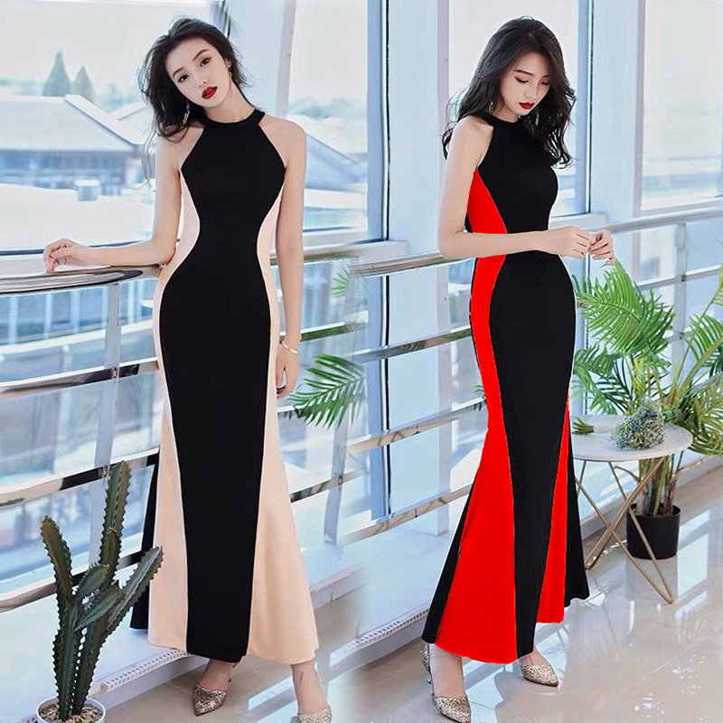 2019 Summer New Style Banquet Evening Gown Dress Dignified Glorious Nobility Elegant Debutante Elegant Long Skirts 3670