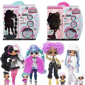 4 комплекта L.O.L Surprise! О. М. Г. Зимняя диско Модная Кукла и сестра LOL OMG для детской игрушки
