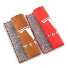 Araba vücut İç temiz bezler Tesla modeli 3 X Y Logo güçlü su emici temizlik havlusu bakım araba aksesuarları