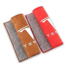Thân Xe Nội Thất Sạch Vải Cho Mẫu Tesla Model 3 X S Y Logo Mạnh Thấm Hút Nước Khăn Lau Vệ Sinh Bảo Dưỡng Xe Ô Tô phụ Kiện