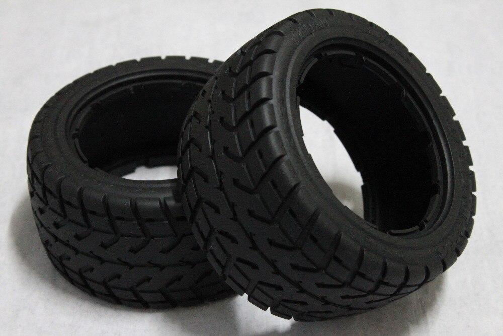 1/5 Rc Car ON Road Rear Tyres -2pcs For 1/5 Hpi Rovan KM Baja 5B SS