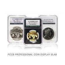Ii lajes pccb exibir grau moeda titular caixas de armazenamento alta qualidade branco cor almofada identificação moeda disply laje
