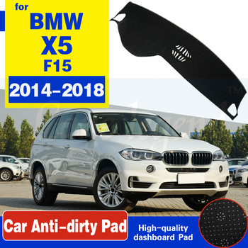 For BMW X5 F15 2014 2015 2016 2017 2018 Anti-Slip Mat Dashboard Cover Pad Shade Dashmat Protect Carpet Accessories X5M Cape Rug image